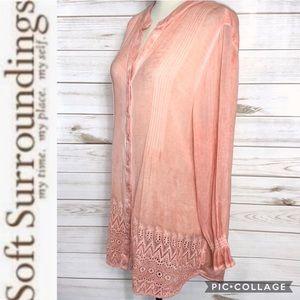 Soft Surroundings tunic w/lace detail size L